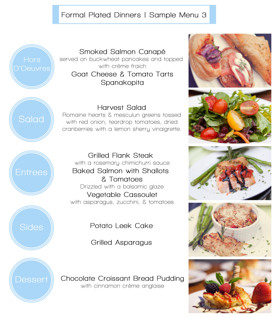 formal plated dinner menus christian s cateringchristian s catering