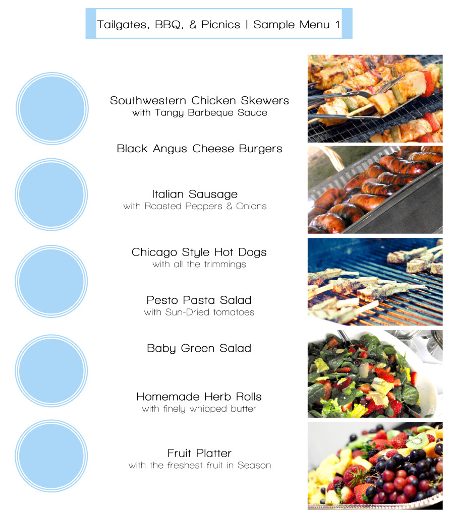 Tailgate menus sample 1