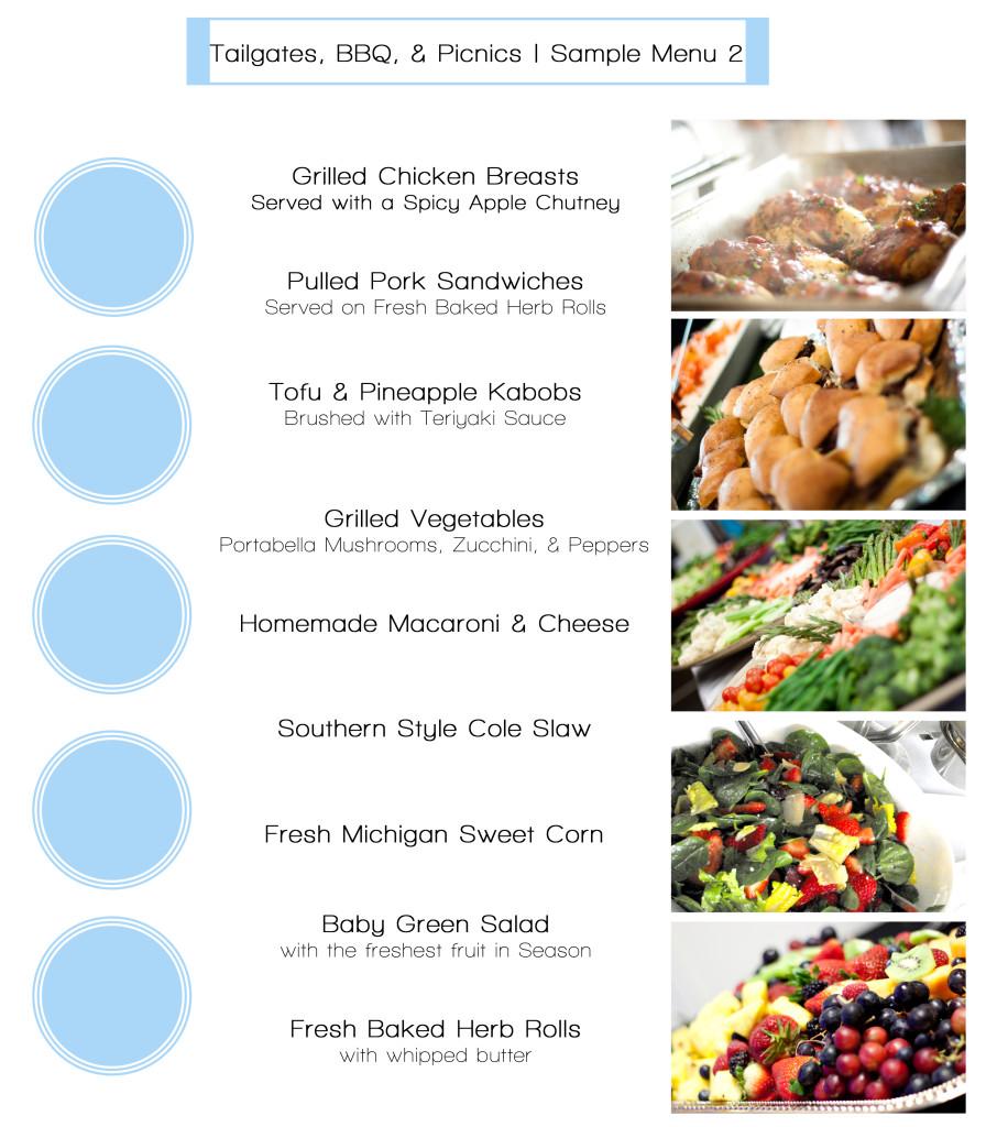 Tailgate menus sample 2