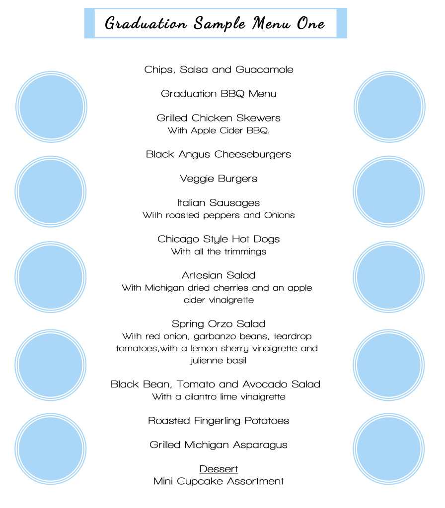 graduation sample menu1