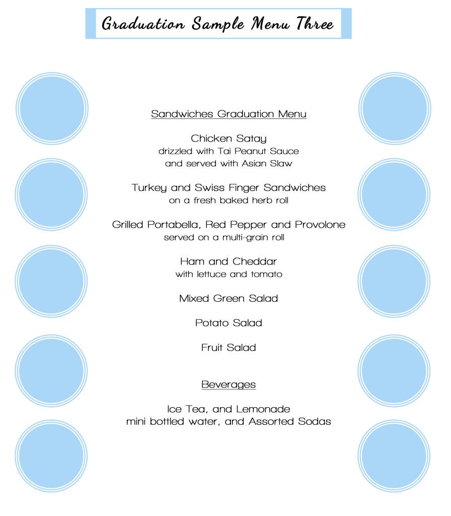 graduation sample menu3