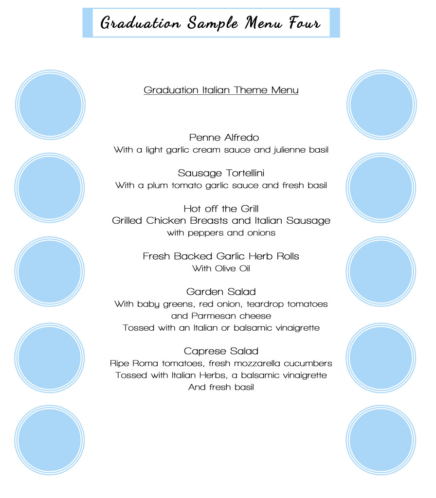 graduation sample menu4