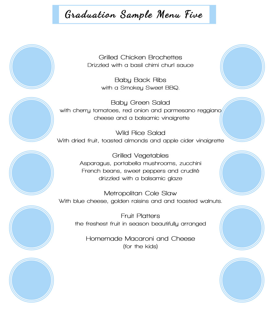 graduation sample menu5